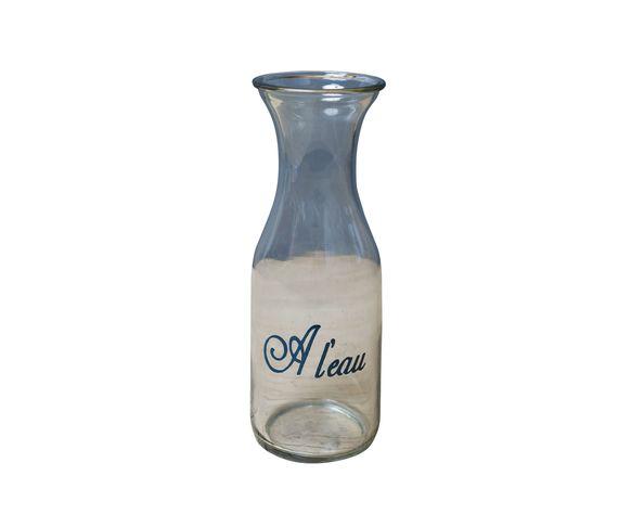 "Carafe verre clair col évasé ""A l'eau"" - Chehoma"