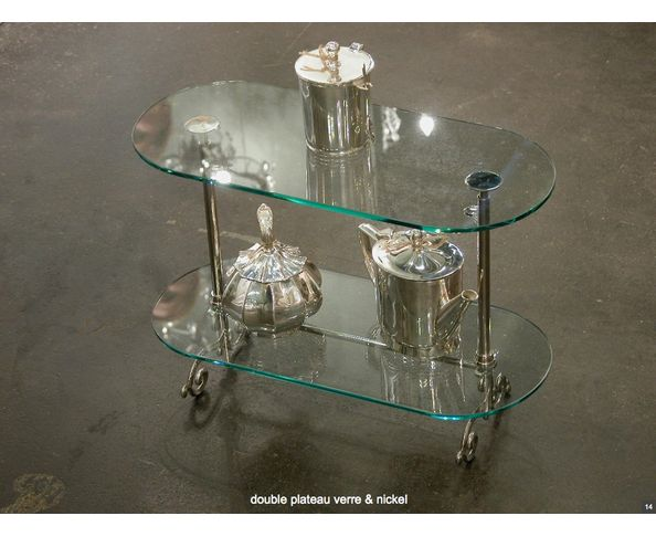 Double Plateau verre et nickel