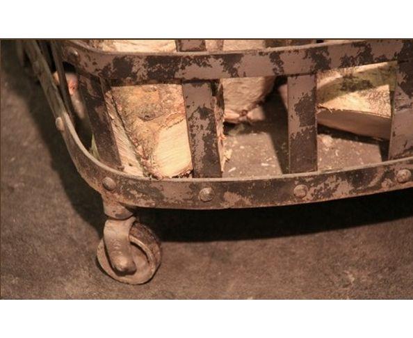 Panier à bûches en métal - Chehoma