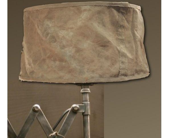 Abat-jour cylindrique 30cm beige Vieille Bâche - Chehoma