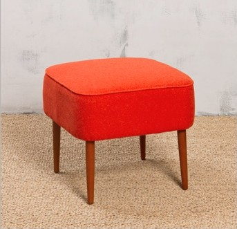 Pouf en feutrine orange - Chehoma