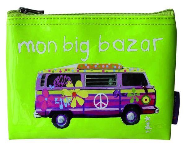 Mini pochette vinyle - Big Bazar - Vert anis