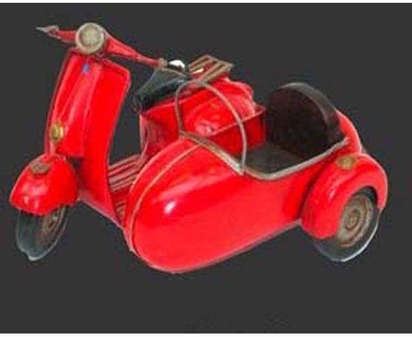 Vespa and sidecar, jouet en métal - Chehoma