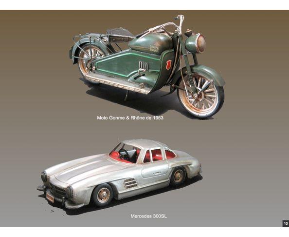 Mercedes 300SL (1955) - jouet en métal - Chehoma