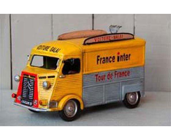 """Fourgon citroen """" France Inter"""" jouet en métal - Chehoma"""