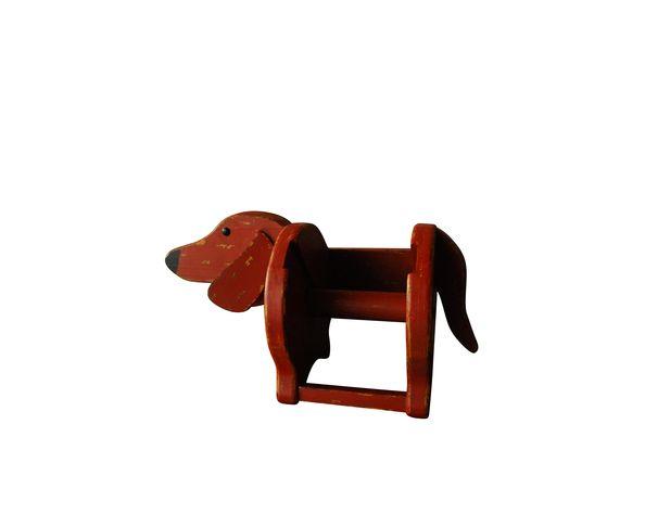 Dérouleur papier toilette chien rouge - Chehoma