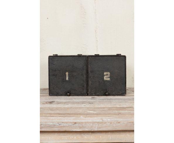 Boîte métal en 2 parties, patine noire - Chehoma