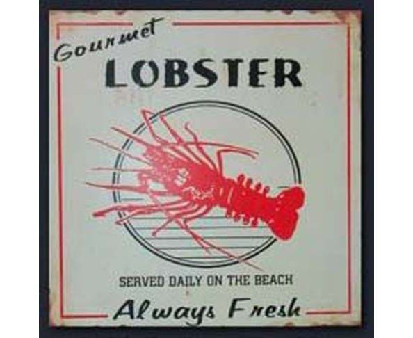 Plaque lobster
