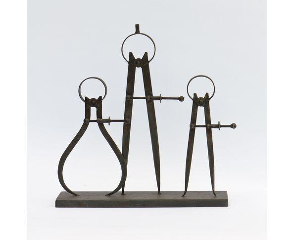 Trois compas marin sur socle - Chehoma