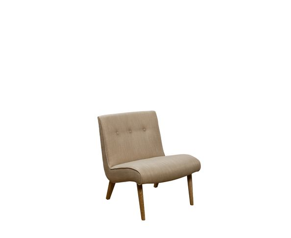 Fauteuil 60's Tissus écru - Chehoma