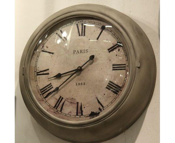 Horloge Paris métal et verre bombé - Chehoma