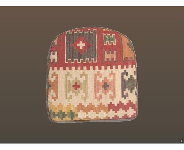 Fauteuil en cuir et kilim Turner - Chehoma