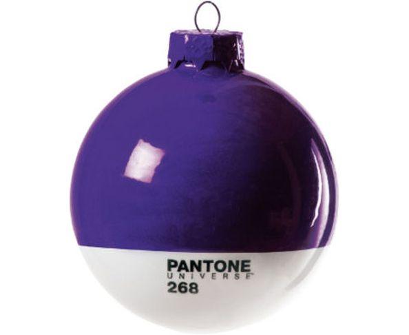 Boule de noël en verre Pantone 7406 Mimosa