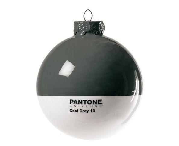 Boule de noël en verre Pantone Cool Gray 10