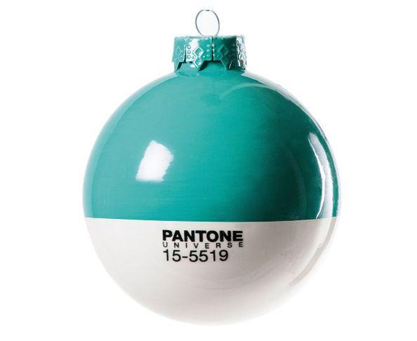 Boule de noël en verre Pantone 15-5519 Turquoise