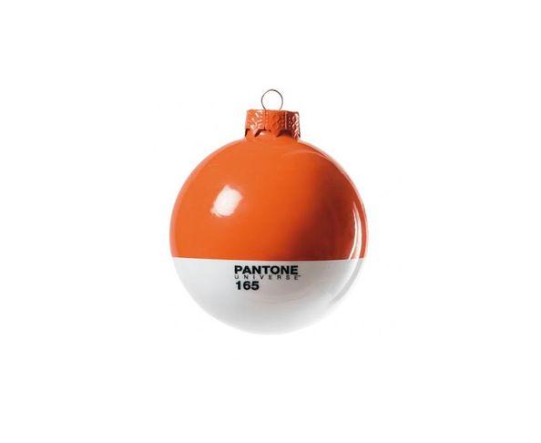 Boule de noël en verre Pantone 165 Orange