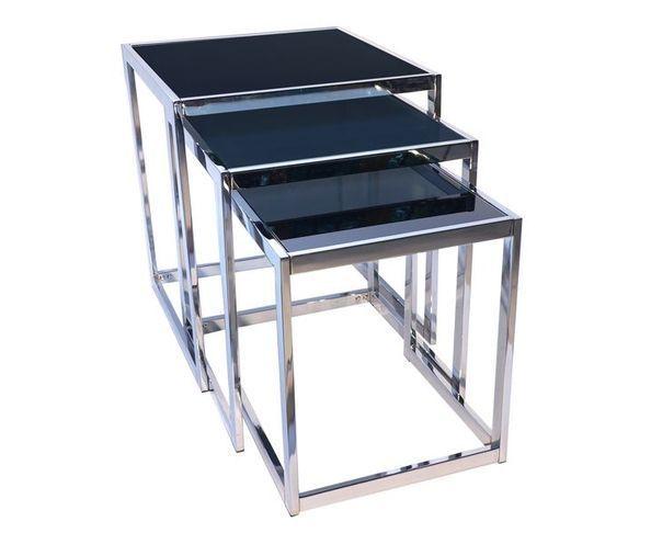 Set 3 tables en verre