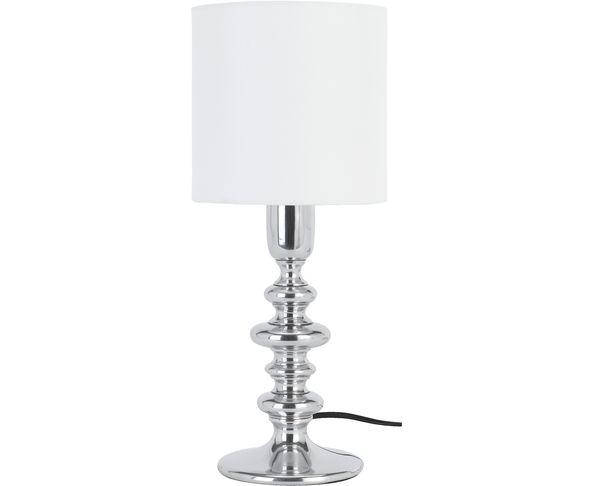 Lampe Seventies Nickel et abat jour Blanc - Athezza