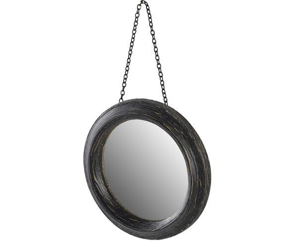 La beaut est dans vos mains miroir rond noir for Gros miroir rond