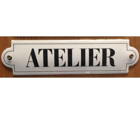Atelier - 50 x 200 mm - Plaque émaillée