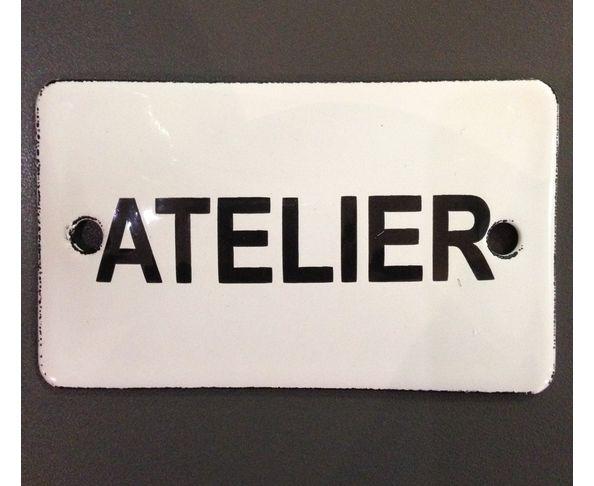 Atelier - 6 x 10 cm - Plaque émaillée