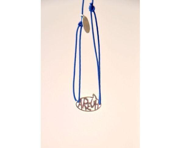 Bracelet argent - Areuh bleu - La Mome Bijoux