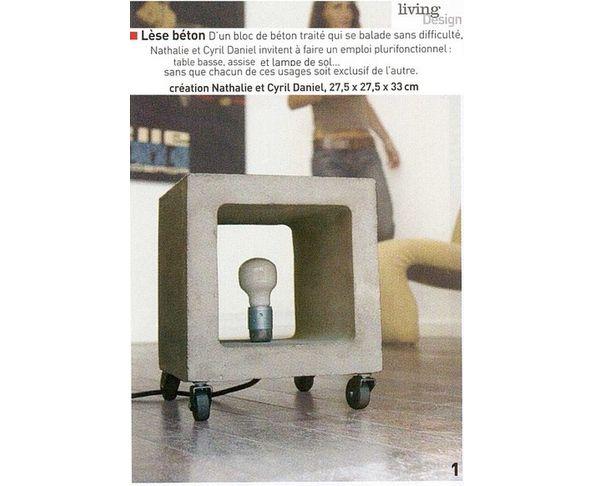 Lampe Nomade d'Urbanoid en béton indoor / outdoor