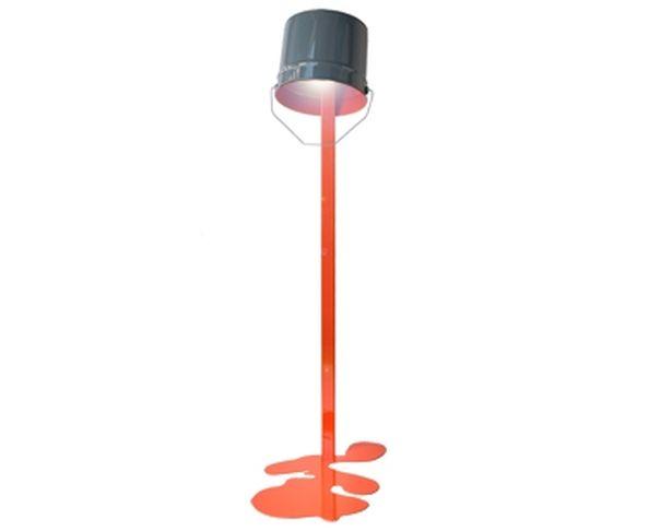 Lampadaire OUPS ! en métal laqué Orange - Flanelle