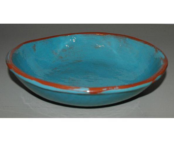 Assiette creuse émaillée - Fabrication artisanale