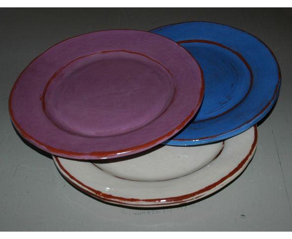 Assiette à dessert émaillée - Fabrication artisanale