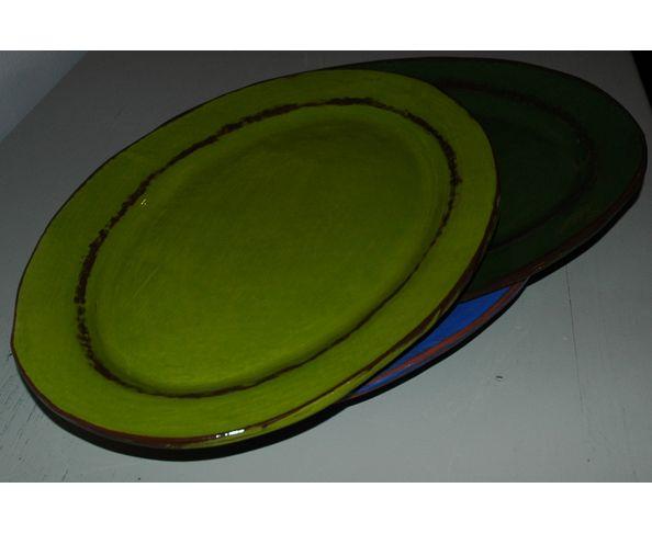 Plat Ovale émaillé - Fabrication artisanale