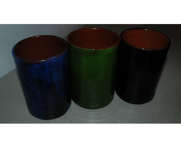 Pot/porte-ustensiles émaillé - Fabrication artisanale
