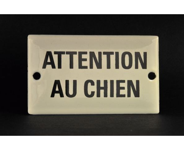 plaques message attention au chien plaque maill e sur deco and me. Black Bedroom Furniture Sets. Home Design Ideas