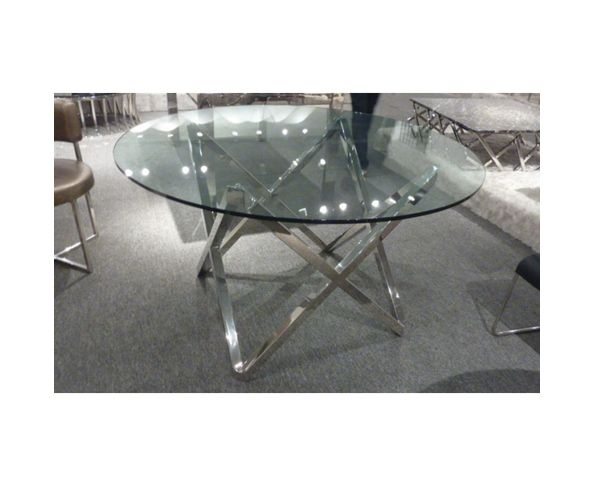 Table de repas ronde design 130 cm sur deco and me for Table repas ronde