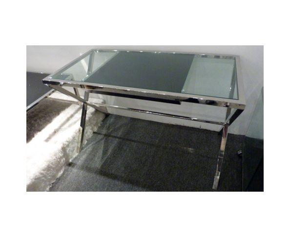 Bureau en verre avec tiroir