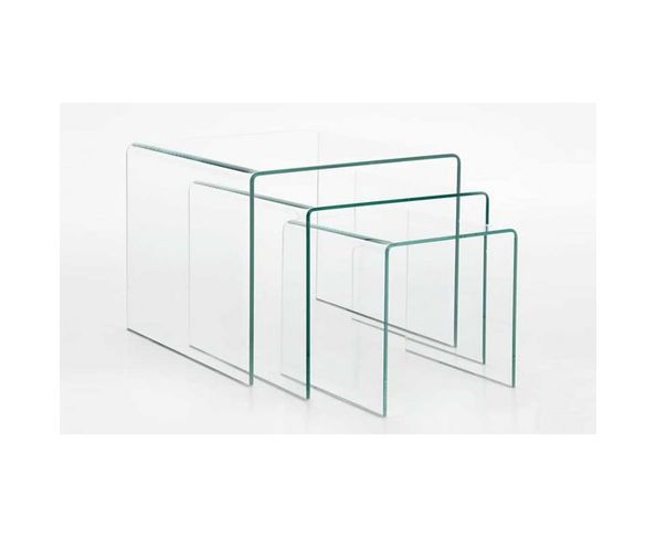 Tables gigognes transparentes