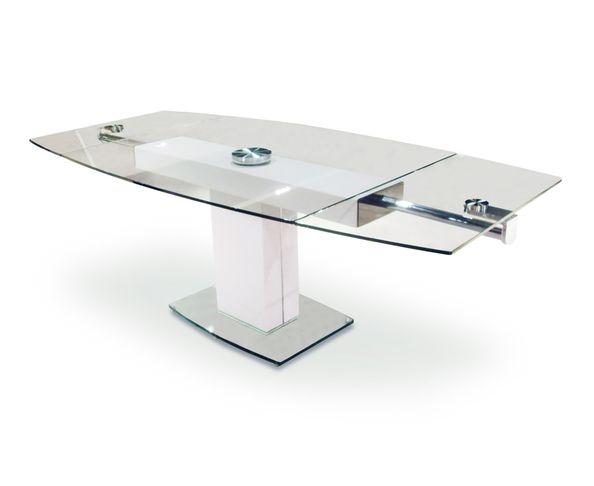 Table de repas extensible en verre