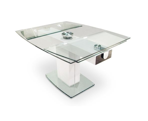 Table de repas extensible en verre sur deco and me for Table ronde verre extensible