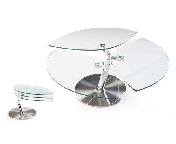 Table basse articulée plateau pétale