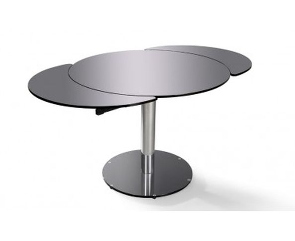Table design extensible ronde for Table ronde verre extensible