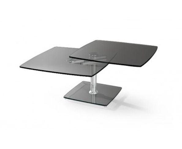Table basse articulée 2 plateaux à dominante rectangulaire