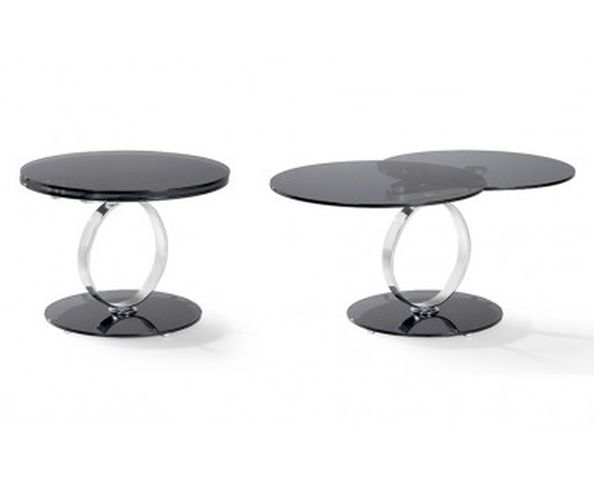table basse ronde articul e 2 plateaux sur deco and me. Black Bedroom Furniture Sets. Home Design Ideas