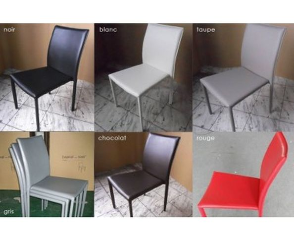 Chaises empilables, lot de 4
