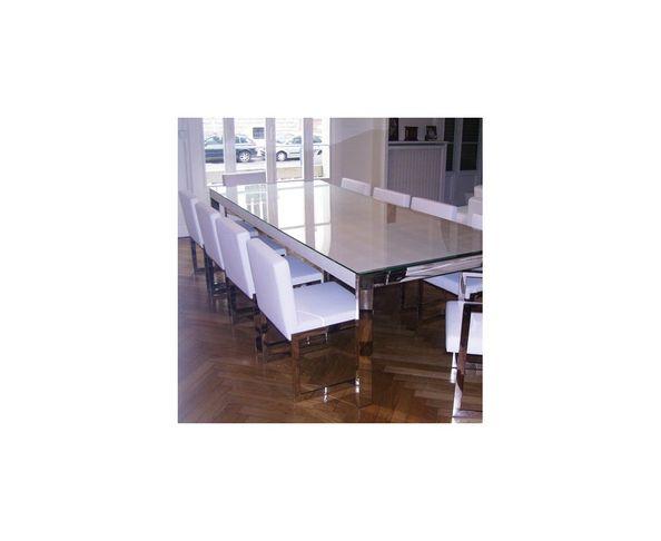 Table de repas cuir 300x120 cm