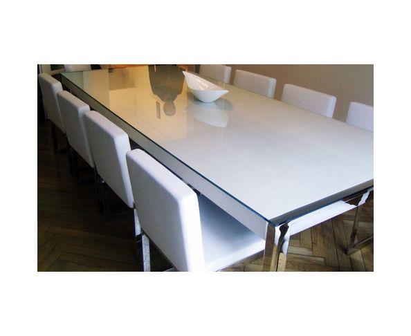 Table de repas cuir 200x100 cm