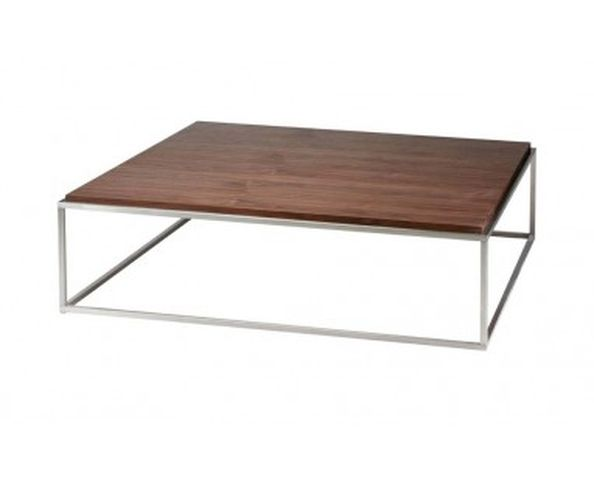 Table basse en plaquage noyer