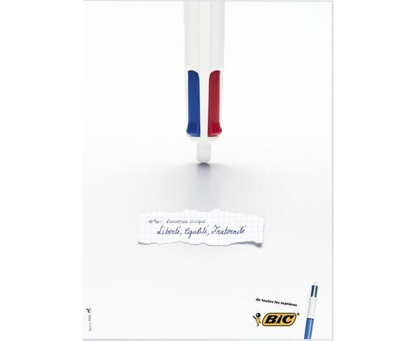 PLUS DISPO Affiche Bic - Education Civique - Liberté égalité - Tirage argentique - Image Republic