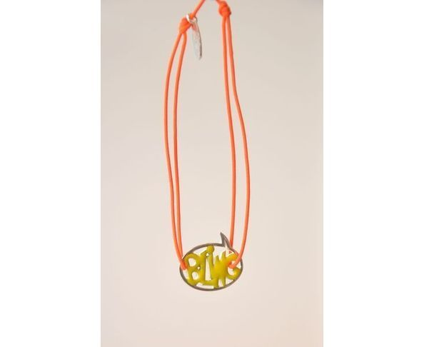 Bracelet argent - Bling jaune / orange - La Mome Bijoux