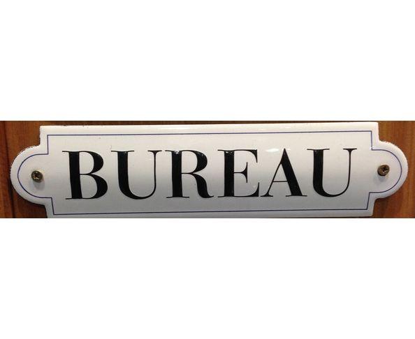 Bureau - 50 x 200 mm - Plaque émaillée relief