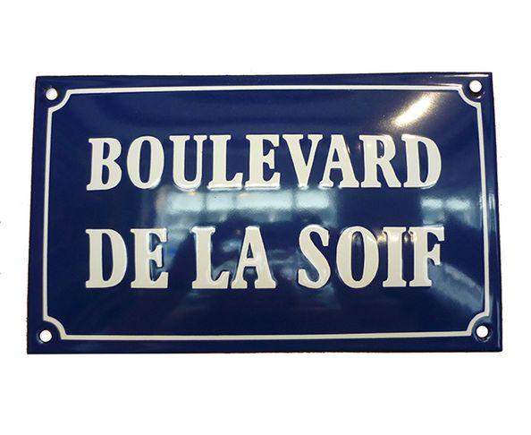 Boulevard de la soif - Plaque émaillée